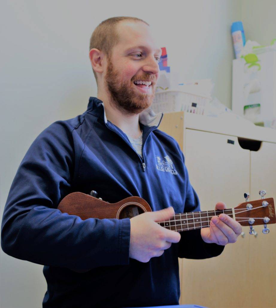 Music therapist singing