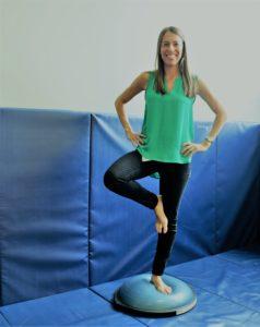 Stephanie Barkan balancing