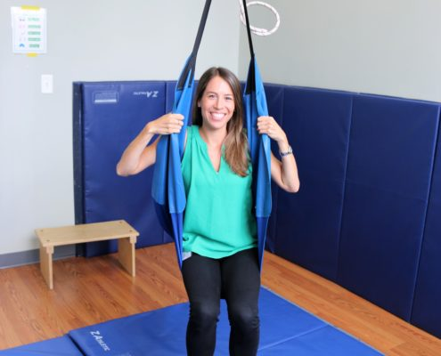 Stephanie Barkan on Cuddle Swing