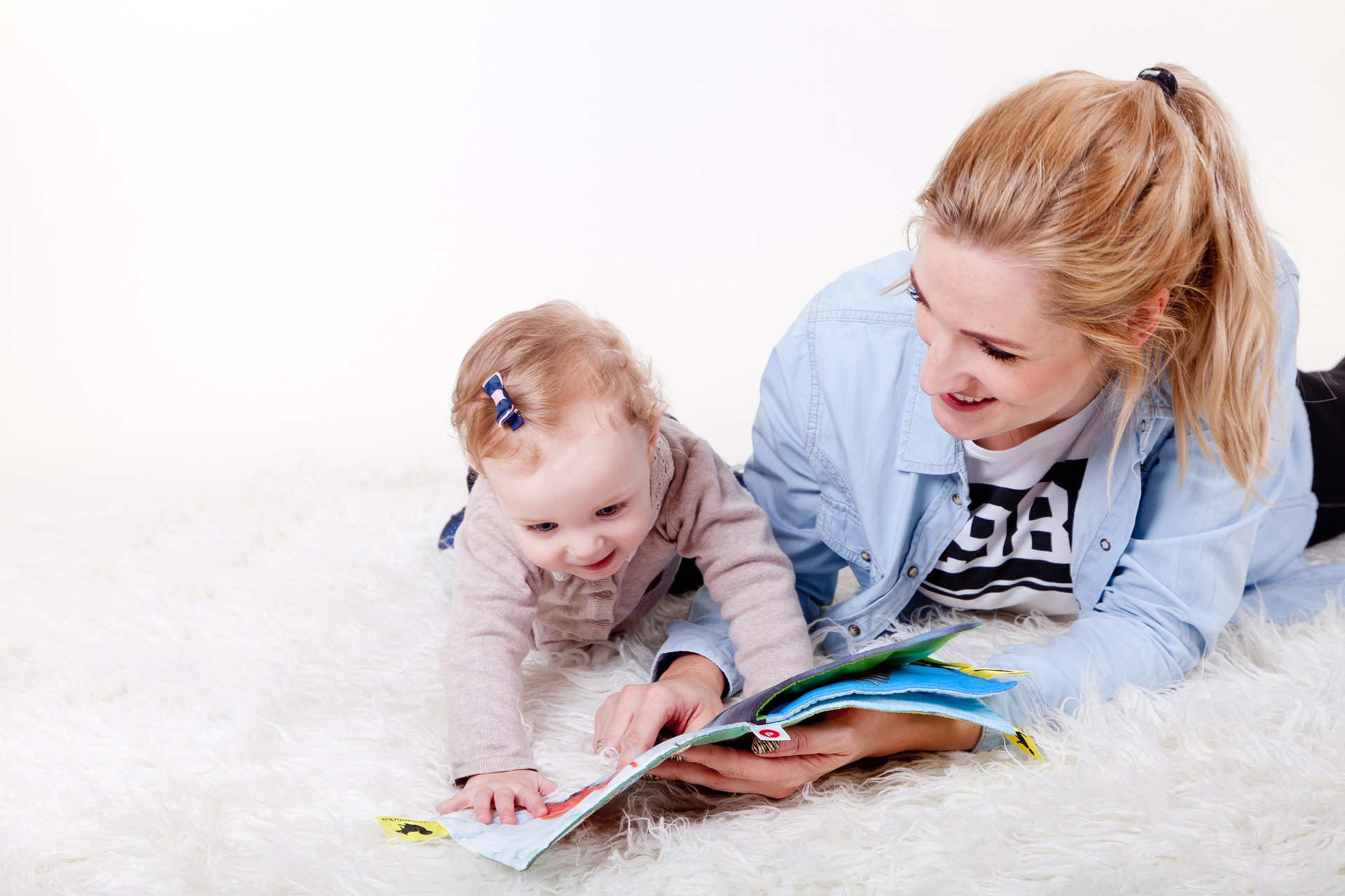 Blue Bird Day and learning to read with mom