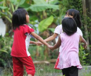 Blue Bird Day kids dancing