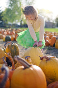 Blue Bird Day and pumpkin girl