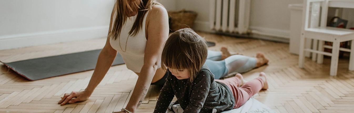 Blue Bird Day and child yoga