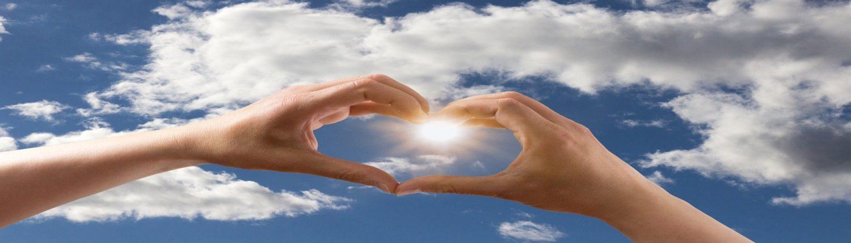 Blue Bird Day and love heart hands