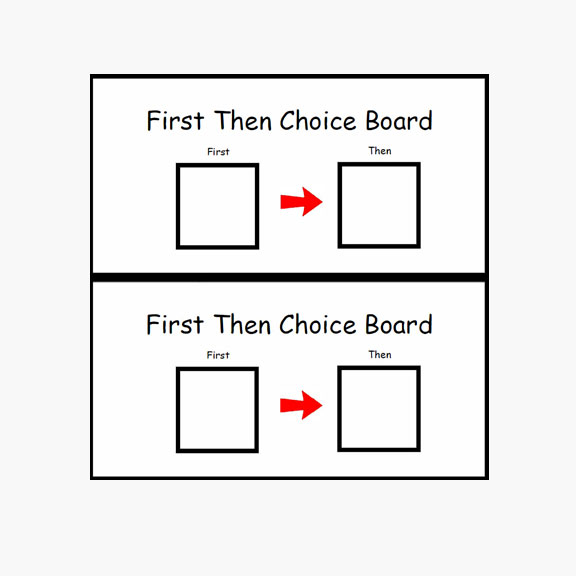 Blue Bird Day and first then choice board