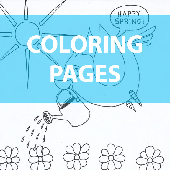 Blue Bird Day Coloring Pages