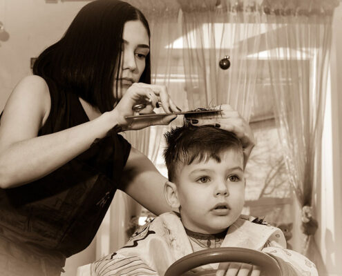 Blue Bird Day and tips and tricks for kid haircuts